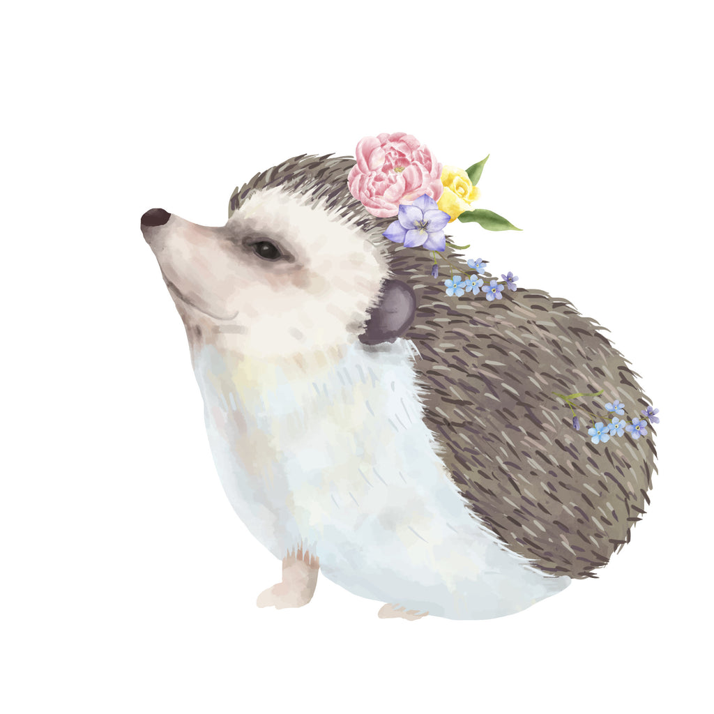 Cute Woodland Hedge Hog Die Cut - Planner Animal Die Cuts