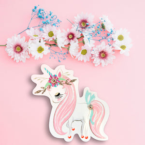 Magical Pastel Unicorn Planner Paper Clip - Planner Clips - Pretty Unicorn - Unicorn Planner Paper Clip - Fantasy Animal Creature Die Cuts
