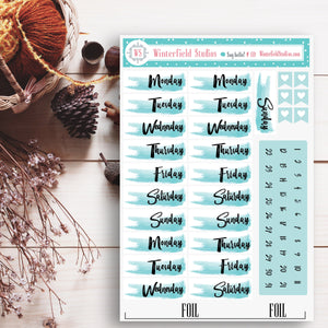 Cozy Coffee & Dessert Planner Stickers - Fall and Winter Stickers - Coffee - Relax - Foil Stickers - Fits Erin Condren, Happy Planner