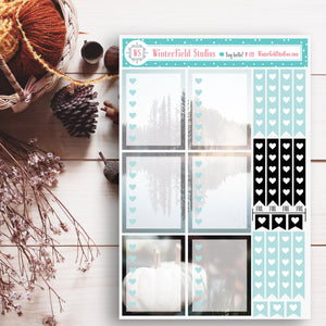 Cozy Winter & Fall Photograph Stickers - Foil Planner Stickers - Home Style Photo Stickers - Fits Erin Condren, Happy Planner