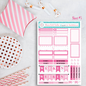 Birthday Bliss Sticker Kit - Fits Vertical Planners