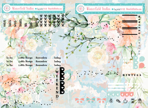 Spring Symphony Hobonichi Monthly Sticker Kit - Autumn Stickers - September Floral Stickers - Planner Kit
