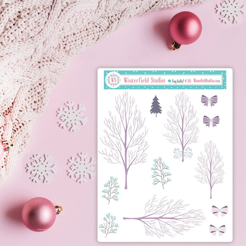 Winter Merriment Planner Sticker Kit - Planner Stickers - Scrapbook Stickers - Christmas Stickers - Fits Erin Condren, Happy Planner