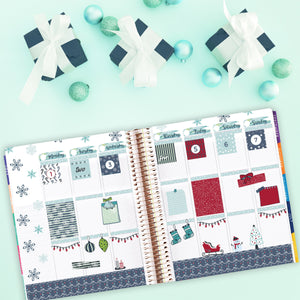 Christmas Holiday Elements Planner Stickers - Christmas Art Deco Stickers - Hand Drawn Stickers - Washi - Bullet Journal Decorative Stickers
