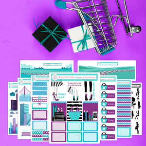 Big City Shopper Planner Sticker Kit - Fits Vertical Planners