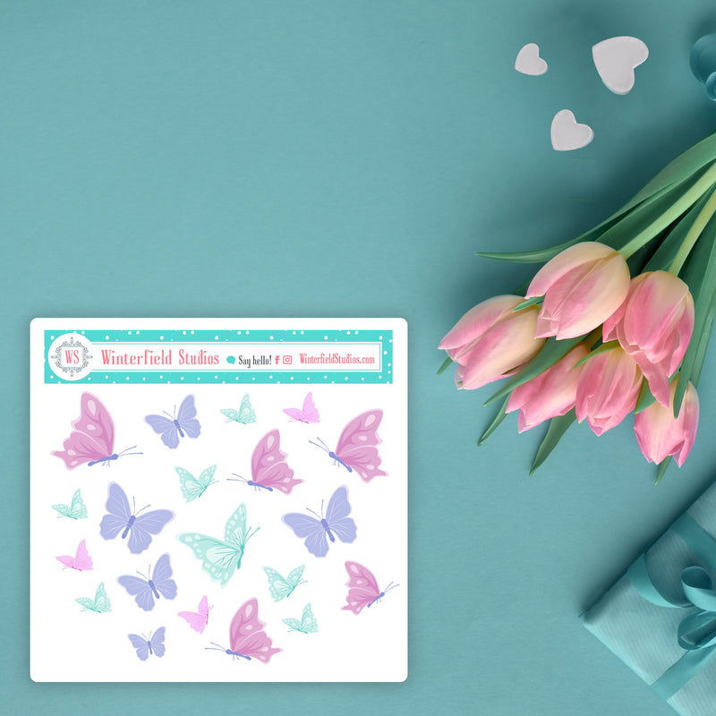 Floral Watercolour Dream Sticker Kit - Fits Vertical Planners