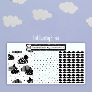 Soaring Air Balloon Planner Sticker Kit - Cloud Art Deco - Fit Erin Condren Life Planner & Classic Happy Planner