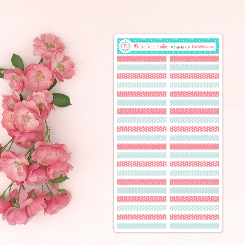 Shabby Chic Rose Planner Scene Sticker Kit - Strawberry Pink Rose Photo Box Stickers Fits Erin Condren, Happy Planner
