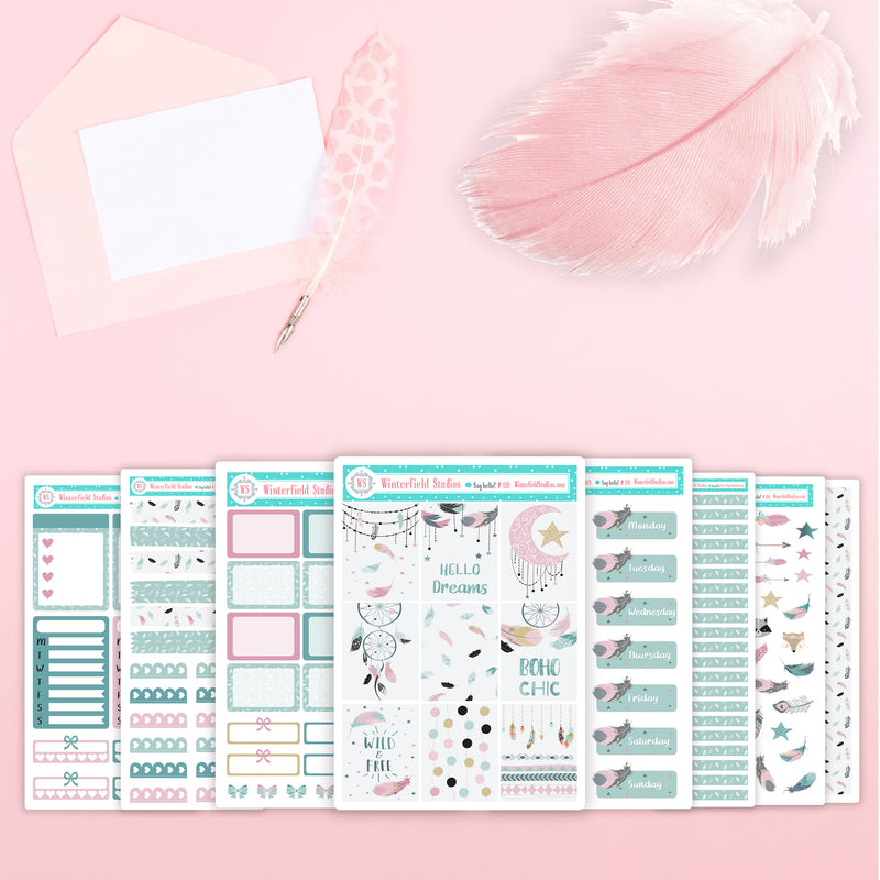 A Feather For All Seasons - Spring, Summer, & Fall Planner Stickers - Fits Erin Condren, Happy Planner, Print Pressions