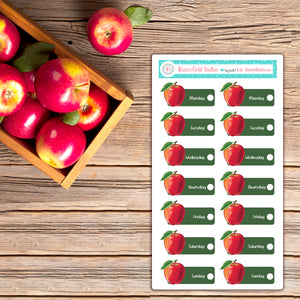 The Autumn Apple Orchard Planner Sticker Kit - Fits Vertical Planners