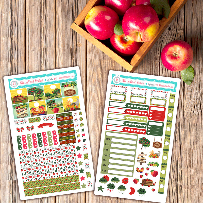 The Apple Orchard Hobonichi Weeks Planner Sticker Kit - Planner Stickers