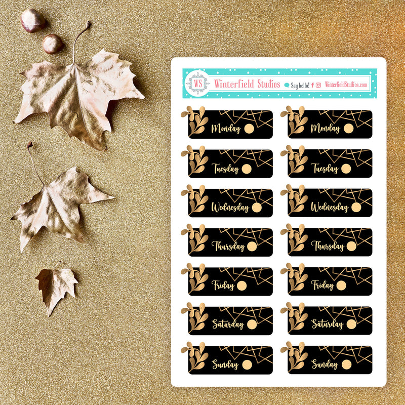 Golden Autumn Opulence Planner Sticker Kit - Fits Vertical Planners