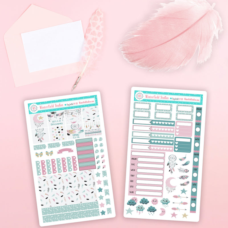 A Feather For All Seasons Hobonichi Sticker Kit - Planner Stickers