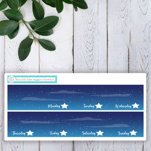 Camping Under the Stars Planner Sticker Kit - Fits Vertical Planners