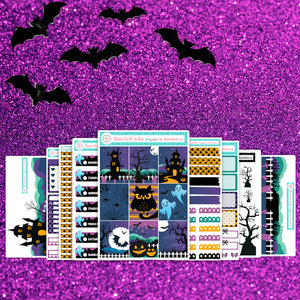 Get Your Scare On Planner Scene Sticker Kit - Fits Vertical Planners