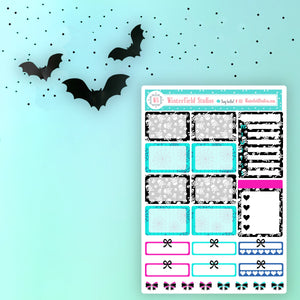 It's Boo! Time - Planner Scene Sticker Kit - Fits Vertical Planners