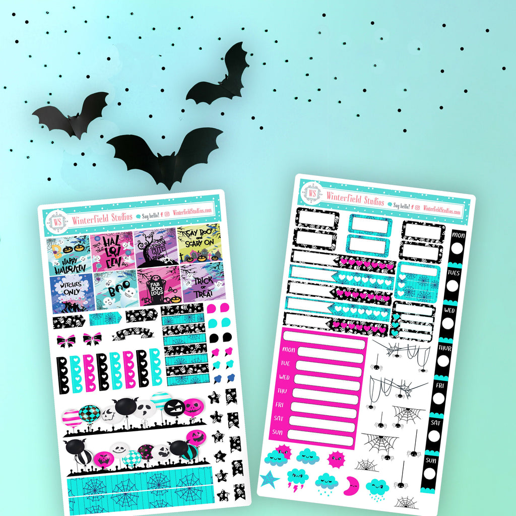 It's Boo! Time - Hobonichi Weeks Planner Sticker Kit - Planner Stickers