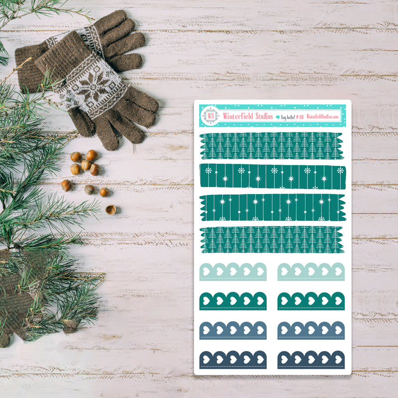 Keeping It Cozy Planner Sticker Kit - Winter Stickers - Scrapbook Stickers - Fits Vertical Planners