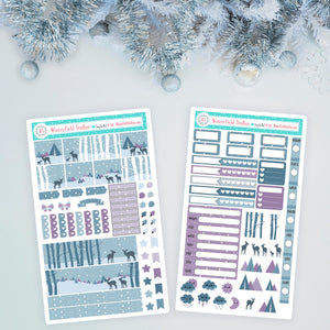 All Is Calm Hobonichi Weeks Planner Sticker Kit - Winter Stickers