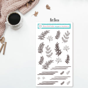 Neutral Functional Box Stickers - Knit Washi Strip