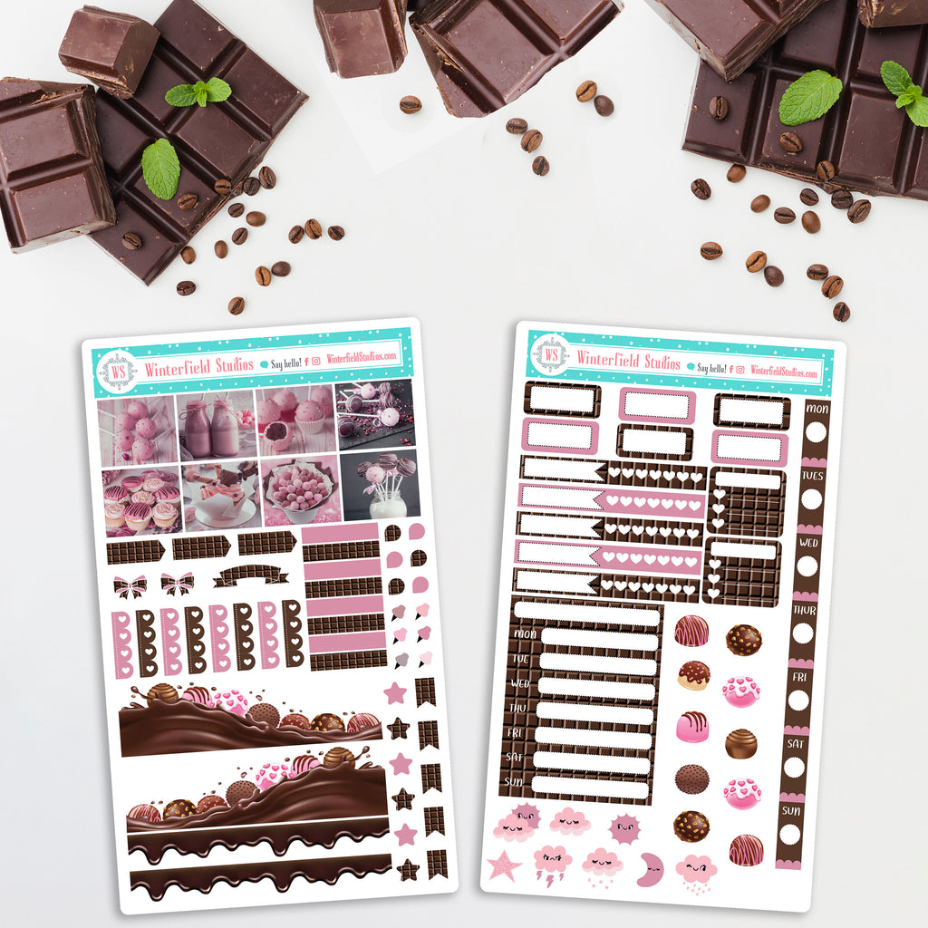 Chocolate Bomb Explosion - Hobonichi Weeks Planner Stickers