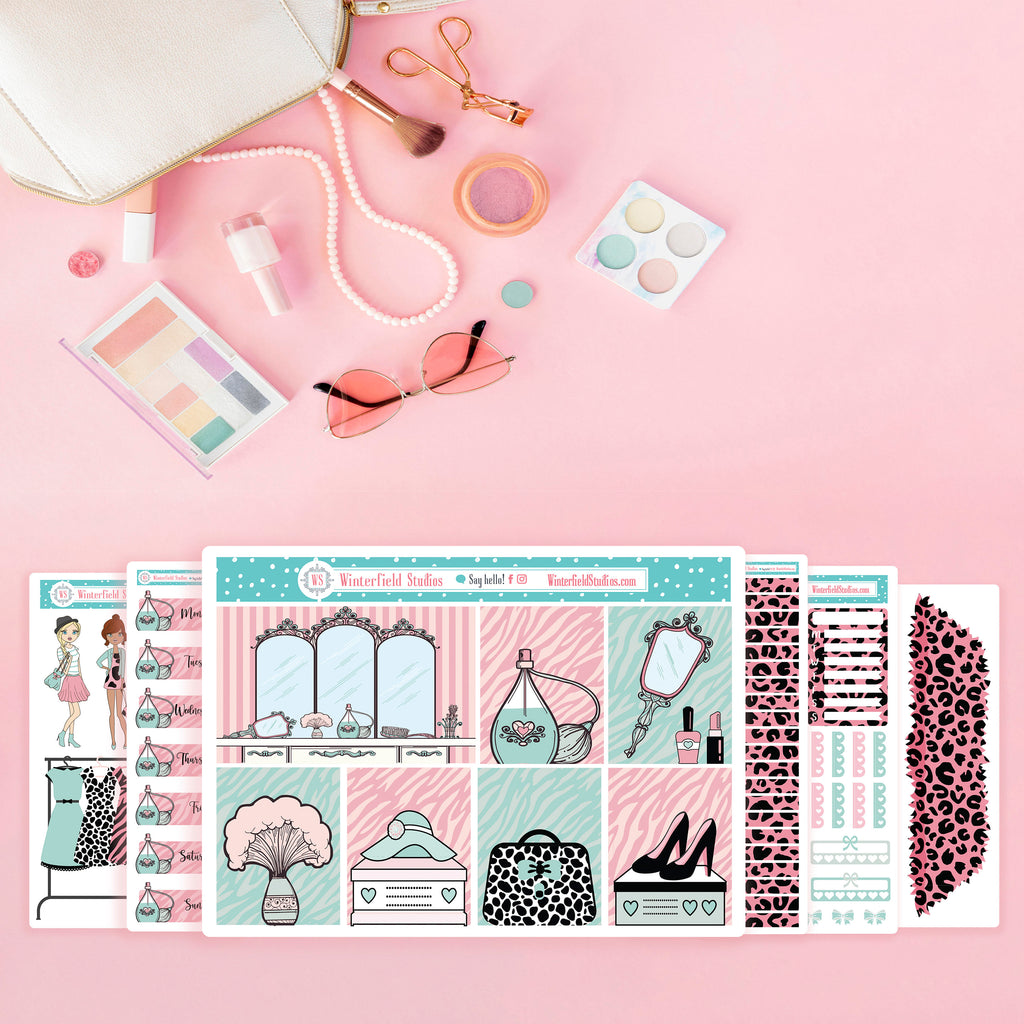 Glam Girls Weekly Planner Sticker Kit - Fits Vertical Planners