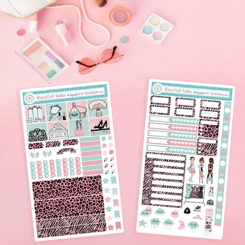 Glam Girls Hobonichi Weeks Planner Sticker Kit