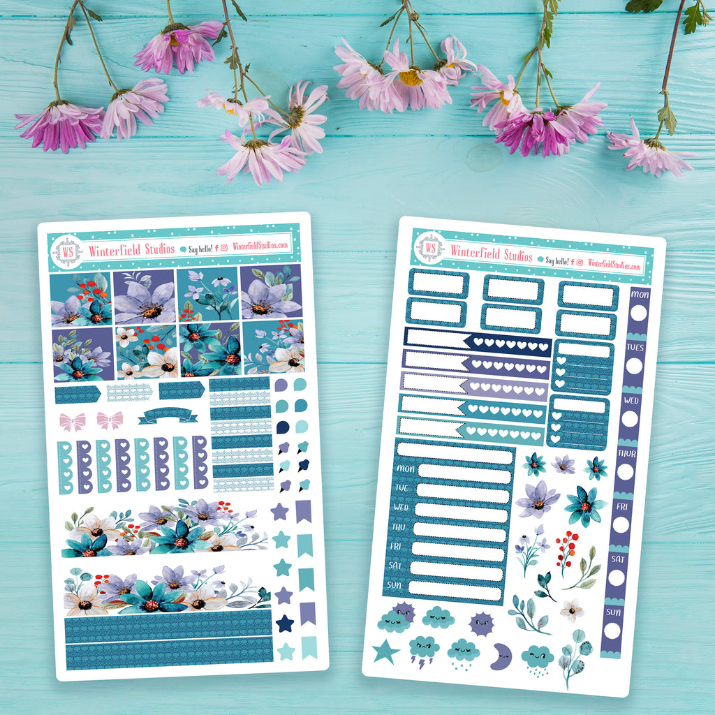 Spring Floral Harmony Hobonichi Weeks Planner Sticker Kit