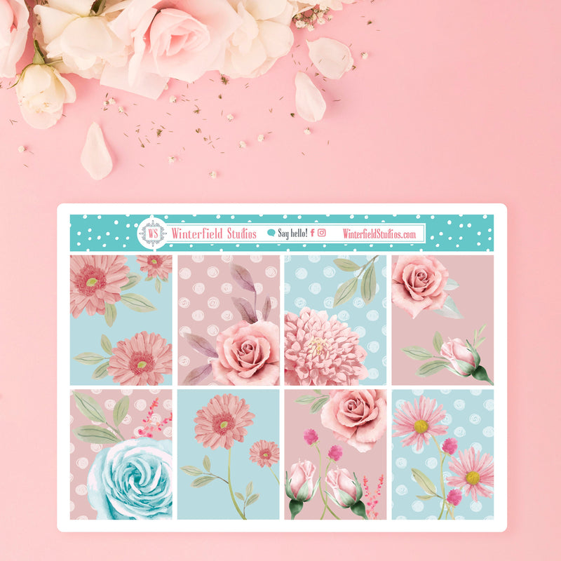 The Untouched Garden Weekly Sticker Kit - Fits Vertical Planners