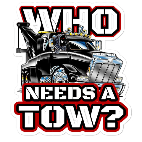 Who Needs a Tow Red - Bubble-free stickers - Reaper Industries