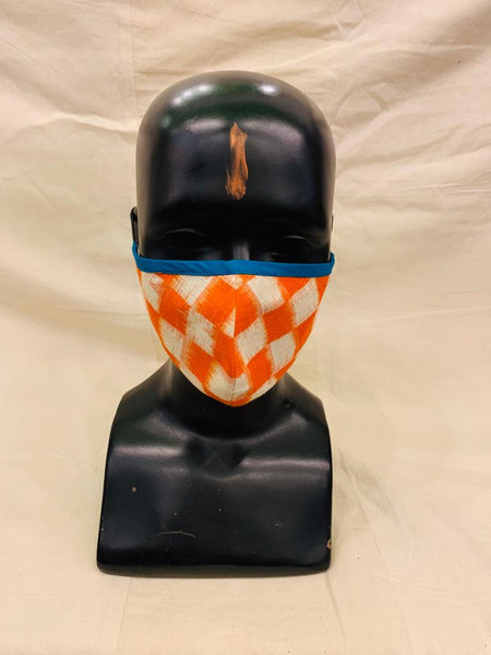 Orange Ikat Mask