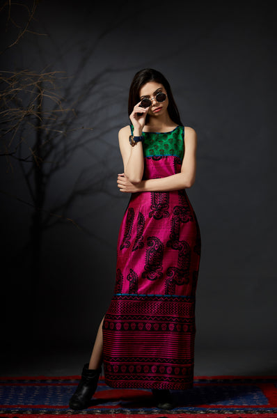 Malini - Silk Sheath Dress - Anuradha Ramam