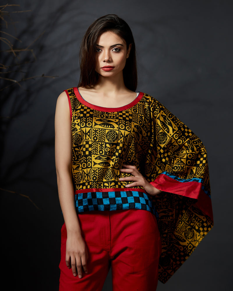 Nandita - One Sleeve Kaftan Top