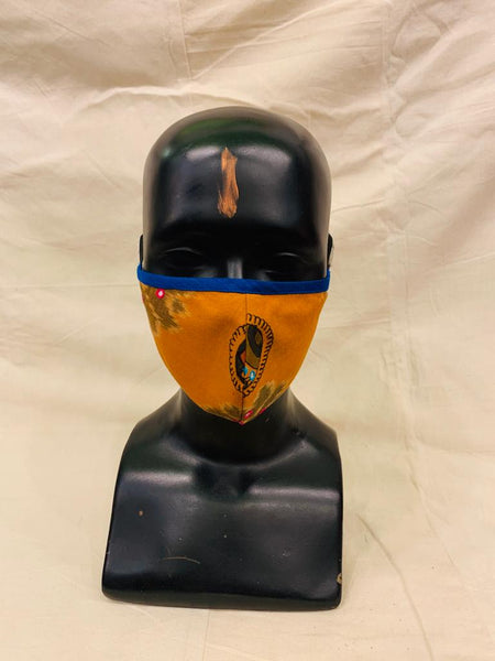 Orange Ikkat Mask