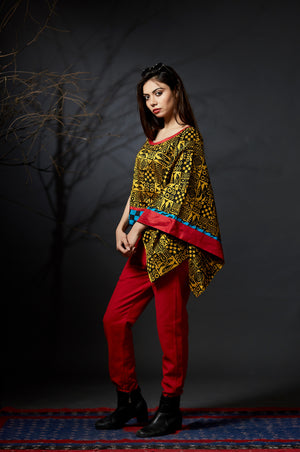 Red Ikat Trousers