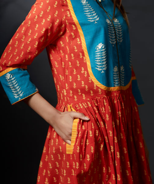 Ojasvi - Maxi Dress - Orange - Anuradha Ramam