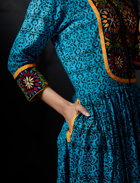 Ojasvi - Maxi Dress - Blue - Anuradha Ramam