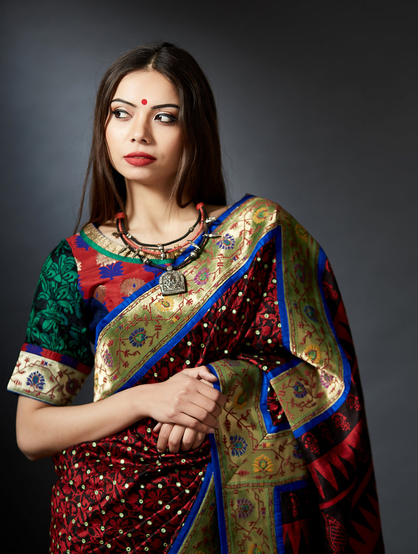 Vastrani - Hand Crafted Blouse with Zari Border