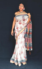 Aam Bagan - Anuradha Ramam- hand woven- hand block print-sustainable fashion-conscoius fashion -vocal for local
