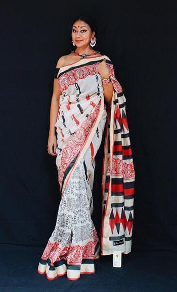 Aamra - Anuradha Ramam-Hand woven- Hand block print - Sustainable fashion- Conscious fashion- Vocal for local