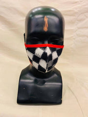 Black and White Ikat Mask - Anuradha Ramam- Hand woven- Sustainable fashion- Conscious fashion- Vocal for local