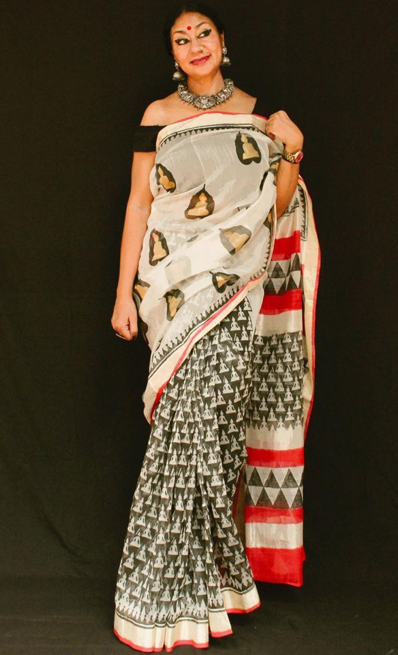Buddha - Anuradha Ramam- Hand woven- Hand block print - Sustainable fashion- Conscious fashion- Vocal for local