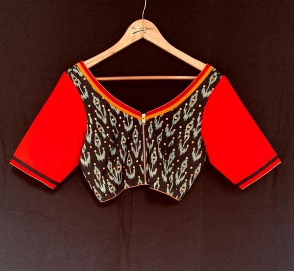 Chaman Blouse - Anuradha Ramam- Hand woven- Hand block print - Sustainable fashion- Conscious fashion- Vocal for local