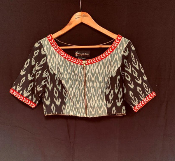 Chanchal Blouse - Anuradha Ramam- Hand woven- kantha emb-Sustainable fashion- Conscious fashion- Vocal for local