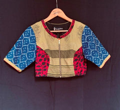 Chandrika Blouse - Anuradha Ramam-Hand woven- Hand block print - Sustainable fashion- Conscious fashion- Vocal for local