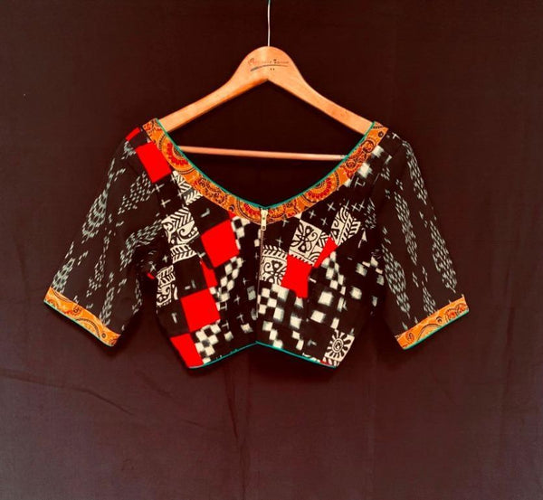 Dhaksha Blouse - Anuradha Ramam-Hand woven- Hand block print - Sustainable fashion- Conscious fashion- Vocal for local