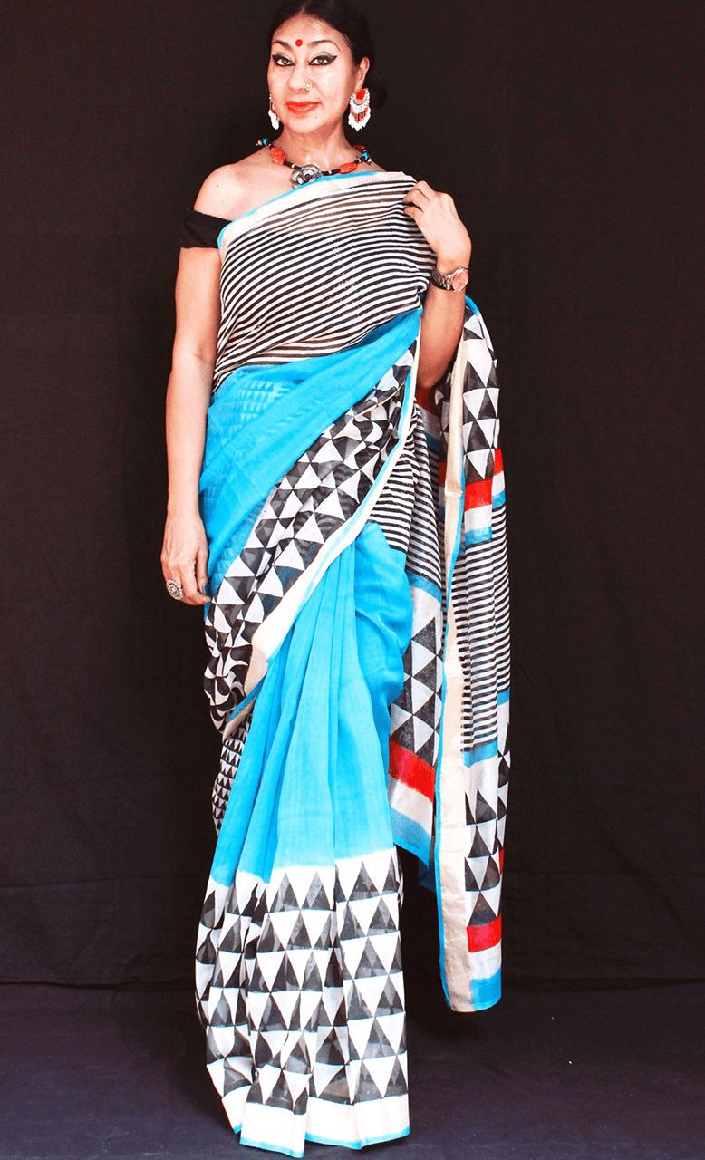 Ferozi - Anuradha Ramam-Hand woven- Hand block print - Sustainable fashion- Conscious fashion- Vocal for local