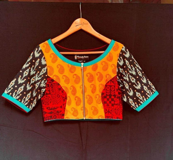 Ganga Blouse - Anuradha Ramam-Hand woven- Hand block print - Sustainable fashion- Conscious fashion- Vocal for local