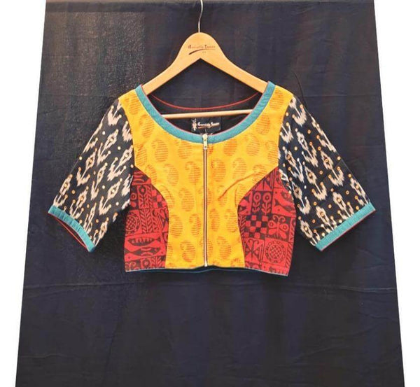 Haridrabh blouse - Anuradha Ramam-Hand woven- Ikat-Sustainable fashion- Conscious fashion- Vocal for local