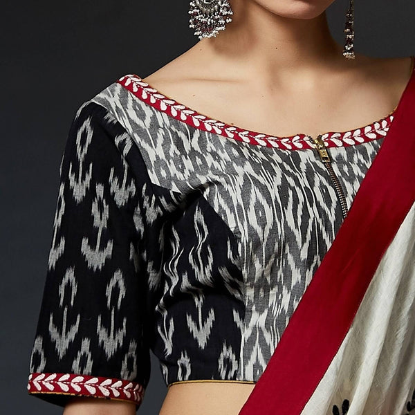Hiba - Ikat Blouse - Anuradha Ramam-Hand woven- Ikat-Sustainable fashion- Conscious fashion- Vocal for local